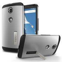 Чехол Spigen Slim Armor для Motorola Nexus 6, Satin Silver