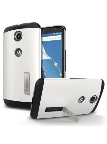 Чехол Spigen Slim Armor для Motorola Nexus 6, Shimmery White, SGP11236