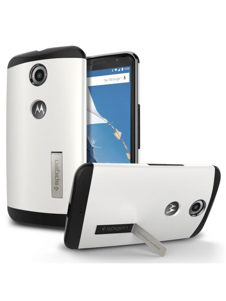 Чехол Spigen Slim Armor для Motorola Nexus 6, Shimmery White