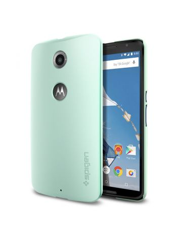 Чехол Spigen Thin Fit для Motorola Nexus 6, Mint , SGP11234