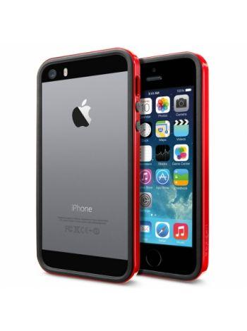 Бампер Spigen Neo Hybrid EX Slim vivid для iPhone SE/5S/5, Dante Red , SGP10026