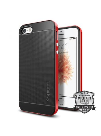 Чехол Spigen Neo Hybrid для iPhone SE, Dante Red, 041CS20186