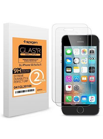 Защитное стекло Spigen iPhone 5, 2шт , SGP10111