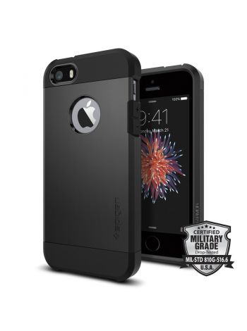 Чехол Spigen Tough Armor для iPhone SE/5S/5, Black, 041CS20189