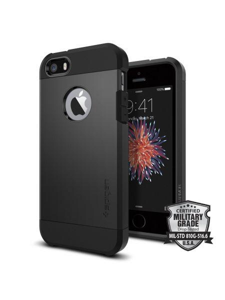 Чехол Spigen Tough Armor для iPhone SE/5S/5, Black