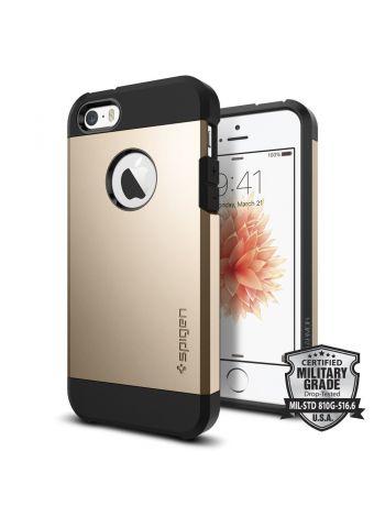 Чехол Spigen Tough Armor для iPhone SE/5S/5, Champagne Gold, 041CS20252
