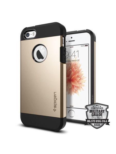 Чехол Spigen Tough Armor для iPhone SE/5S/5, Champagne Gold
