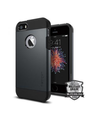 Чехол Spigen Tough Armor для iPhone SE/5S/5, Metal Slate, 041CS20187