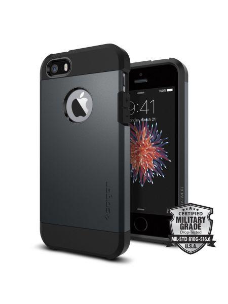 Чехол Spigen Tough Armor для iPhone SE/5S/5, Metal Slate