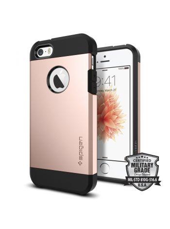 Чехол Spigen Tough Armor для iPhone SE/5S/5, Rose Gold, 041CS20190