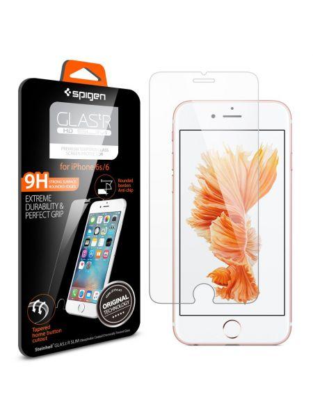 """Защитно стекло Spigen Glass """"GLAS.tR"""" Slim для iPhone 6S/6"""