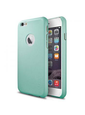 Кожаный чехол Spigen SGP LEATHER FIT для iPhone 6s/6, Mint , SGP11375