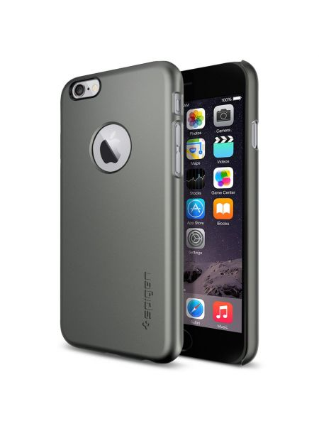 Чехол Spigen Thin Fit A, iPhone 6S/6, Gunmetal