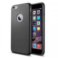 Кожаный чехол Spigen SGP LEATHER FIT для iPhone 6S PLUS/6 PLUS, Black