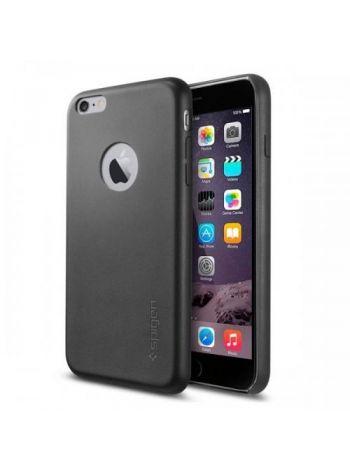 Кожаный чехол Spigen SGP LEATHER FIT для iPhone 6S PLUS/6 PLUS, Black , SGP11404