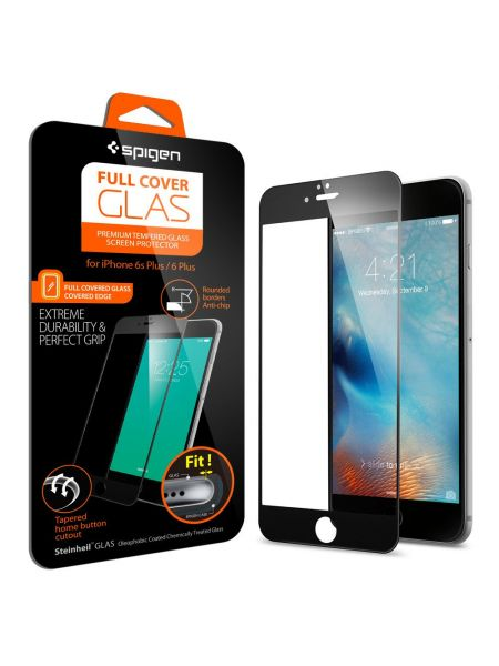 Стекло Spigen Screen Protector Full Cover Glass для iPhone 6 Plus/6S Plus