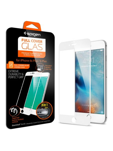 Стекло Spigen Screen Protector Full Cover Glass для iPhone 6 Plus/6S