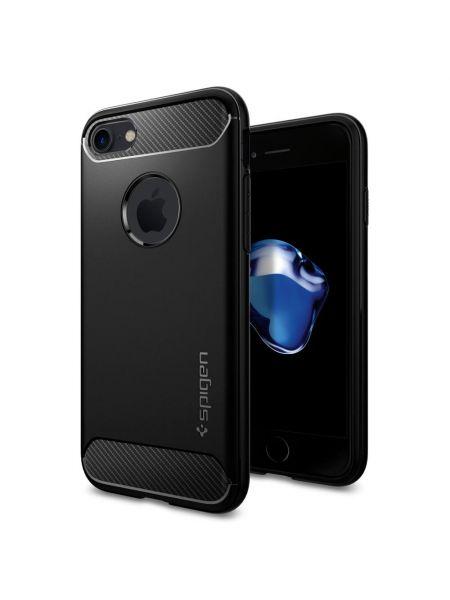 Чехол Spigen для iPhone 7 Rugged Armor, Black