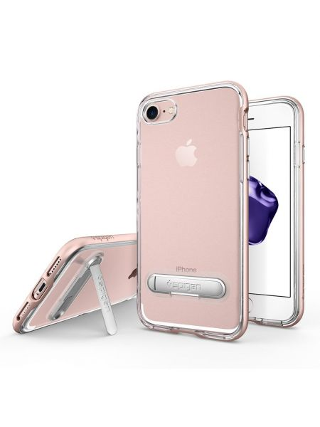 Чехол Spigen для iPhone 7 Crystal Hybrid, Rose Gold