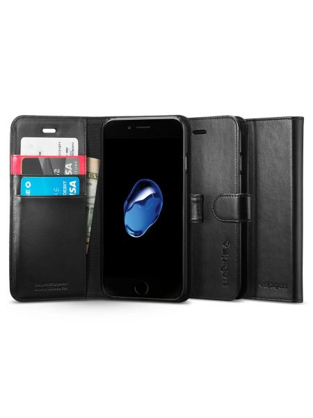 Книжка-Чехол Spigen для iPhone 7 / 8 Wallet S, Black