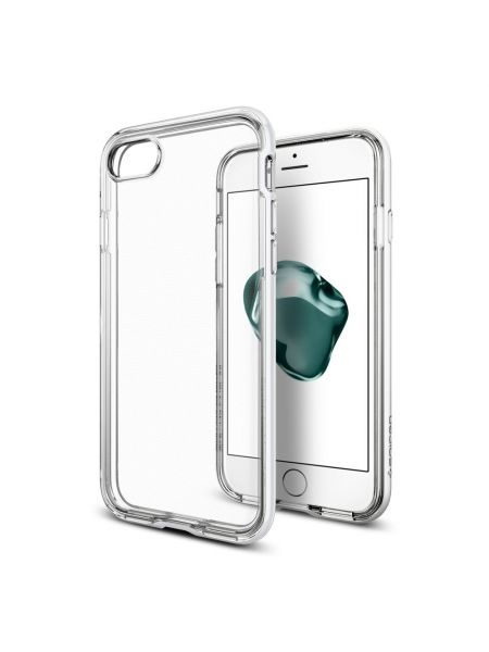 Чехол Spigen для iPhone 7 / 8 Neo Hybrid Crystal, Jet White