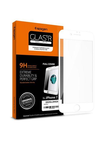 Защитное стекло для iPhone 7 Full Cover, White