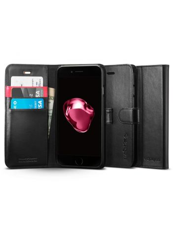 Чехол iPhone 8 Plus / 7 Plus Case Wallet S, Black, 043CS20543