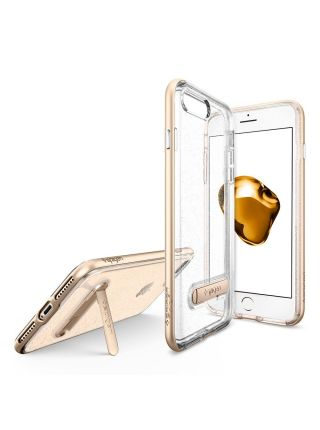 Чехол iPhone 7 Plus Crystal Hybrid Glitter, Gold Quartz