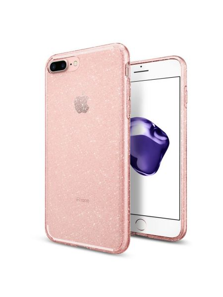 Чехол Spigen для iPhone 8 Plus / 7 Plus Liquid Crystal Glitter, Rose Quartz