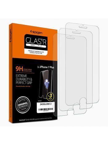 Защитное стекло Spigen для iPhone 8 Plus / 7 Plus, 3шт., 043GL20612