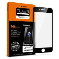 Защитное стекло Spigen для iPhone 8 Plus / 7 Plus Full Cover, Black