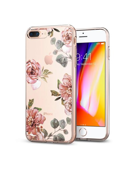Чехол Spigen для iPhone 8 Plus / 7 Plus Liquid Crystal Aquarelle, Rose