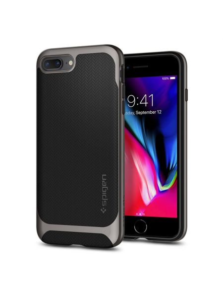Чехол Spigen для iPhone 8 Plus / 7 Plus Neo Hybrid Herringbone, Gunmetal