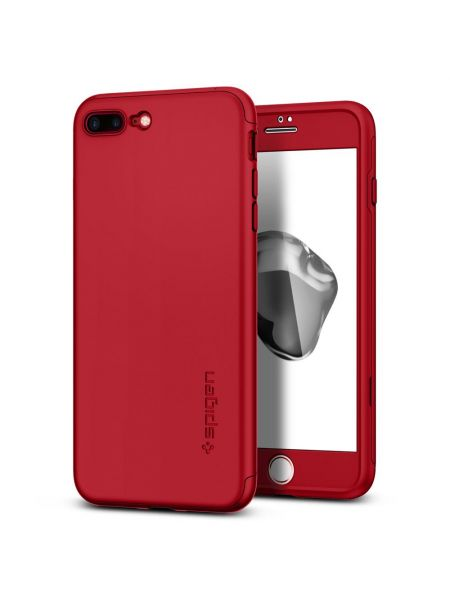 Чехол Spigen для iPhone 7 Plus Thin Fit 360, Red