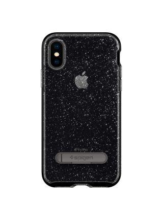 Чехол Spigen для iPhone X/XS Crystal Hybrid Glitter, Space Quartz