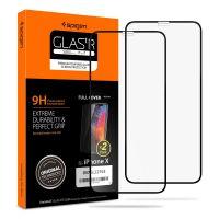 Защитное стекло Spigen для iPhone Х/XS Full Cover, Black