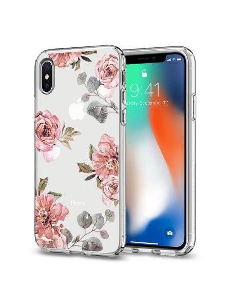 Чехол Spigen для iPhone X/XS Liquid Crystal Aquarelle, Rose