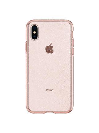 Чехол Spigen для iPhone X/XS Liquid Crystal Glitter, Rose Quartz