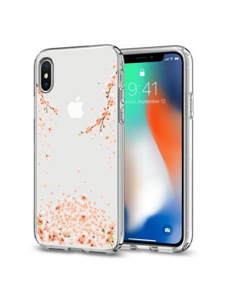 Чехол Spigen для iPhone X/XS Liquid Crystal Blossom, Crystal Clear