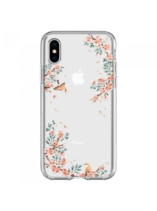Чехол Spigen для iPhone X/XS Liquid Crystal Blossom, Nature
