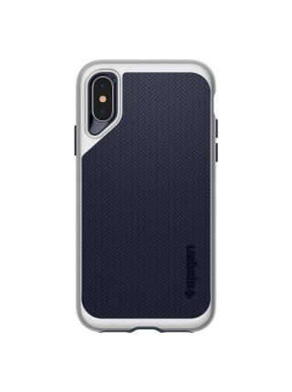 Чехол Spigen для iPhone X/XS Neo Hybrid, Satin Silver