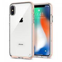 Чехол Spigen для iPhone X/XS Neo Hybrid Crystal, Blush Gold