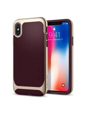 Чехол Spigen для iPhone X Neo Hybrid, Burgundy, 057CS22168