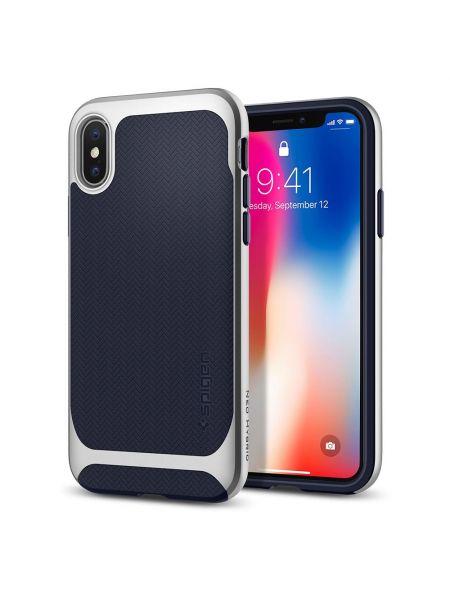 Чехол Spigen для iPhone X Neo Hybrid, Satin Silver