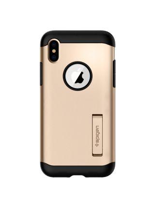 Чехол Spigen для iPhone X/XS Slim Armor, Champagne Gold