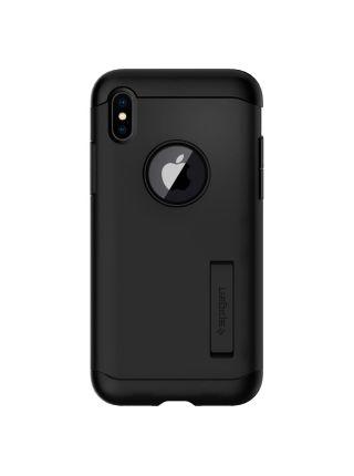 Чехол Spigen для iPhone X Slim Armor, Black