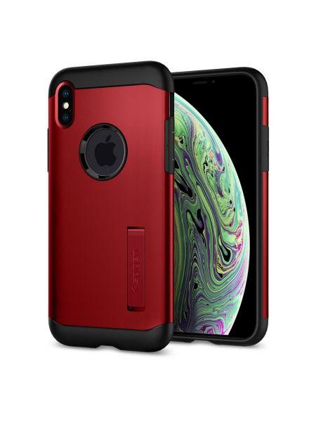 Чехол Spigen для iPhone X/XS Slim Armor, Merlot Red