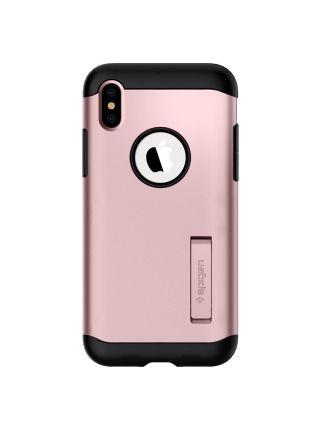 Чехол Spigen для iPhone X/XS Slim Armor, Rose Gold