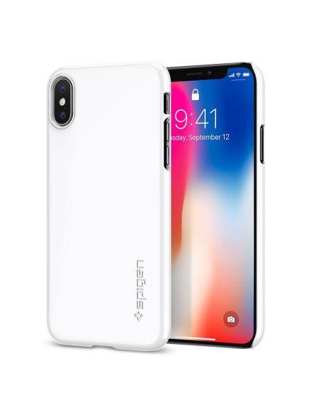 Чехол Spigen для iPhone X/XS Thin Fit, Jet White