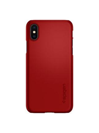 Чехол Spigen для iPhone X/XS Thin Fit, Metallic Red
